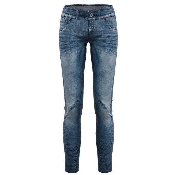 Pantalone dall'esclusivo look jeans, stampato pantalone tecnicoo donna