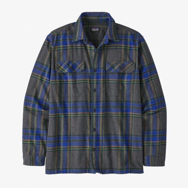 Patagonia M's Long-Sleeved Fjord Flannel Shirt camicione flanella quadretti da uomo ragazzo