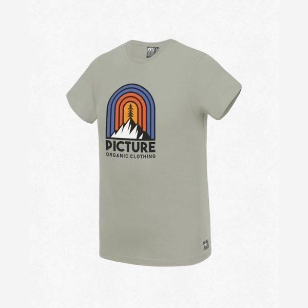 Picture Gorak Tee stone beige maglietta con logo montagna