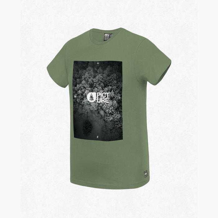 Picture Jasper Tee maglietta ragazzo uomo verde bosco