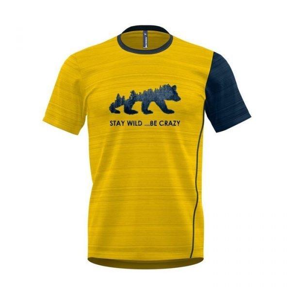Crazy Idea T-Shirt Gulp Man maglietta tacnica uomo ragazzo gialla
