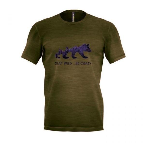 Crazy Idea T-Shirt Gulliver Man maglietta uomo ragazzo grafica orso