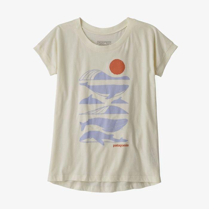 Patagonia Girls' Graphic Organic Cotton T-Shirt maglietta ragazzina balena