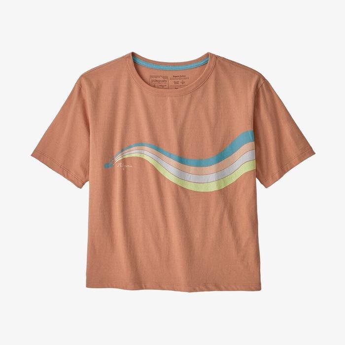 Patagonia Women's Psychedelic Slider Organic Cotton Easy-Cut Tee maglietta donna estiva