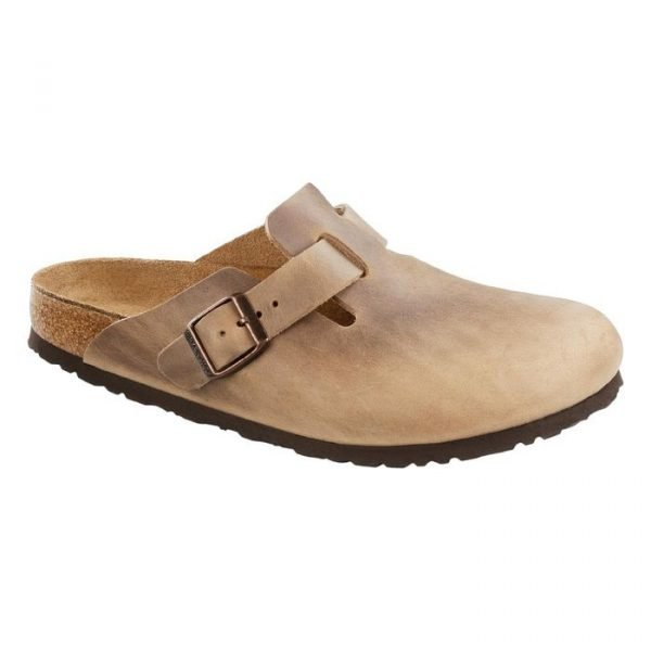 Birkenstock Boston Tabacco Brown sandalo chiuso uomo donna marrone chiaro