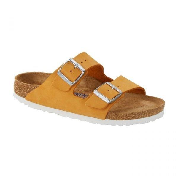 Birkenstock Sandalo Arizona SFB apricot sandalo donna estivo giallo