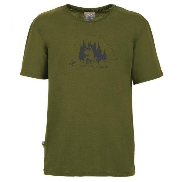 Enove t-shirt uomo Living Forest verde maglietta ragazzo