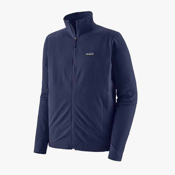 Patagonia Men's R1® TechFace Jacket pile leggero caldo da uomo blu
