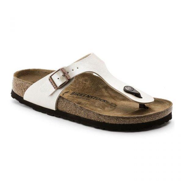Infradito Birkenstock Gizeh Pearl White sandalo bianco perlato estivo donna ragazza