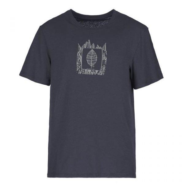 E9 maglietta uomo Plan blu foglia