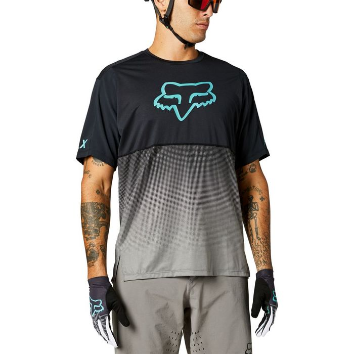 Maglietta uomo Fox Fleair SS nero azzurra