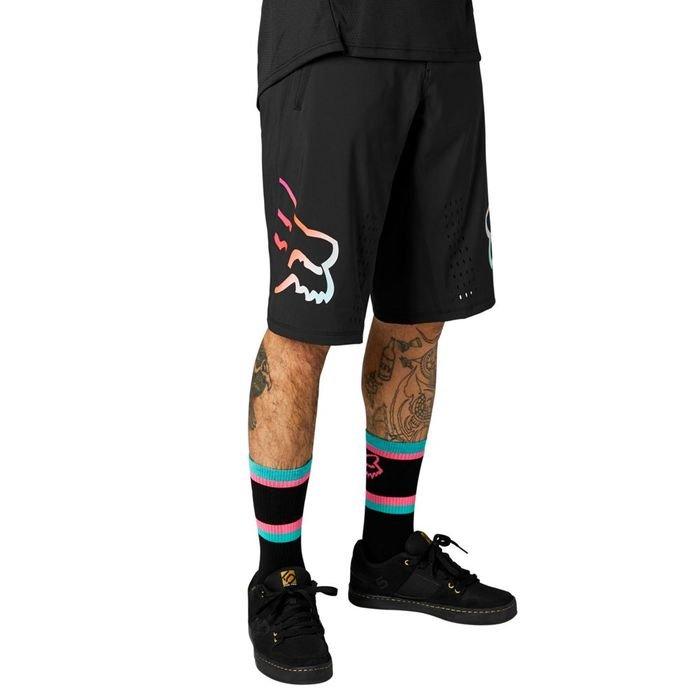 Fox pantaloncini uomo Defend Short nero logo colorato