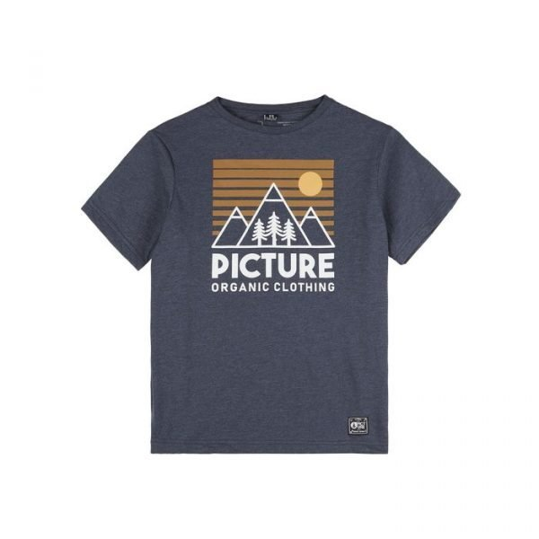 Picture Organic Clothing Fasty tee dark blue melange