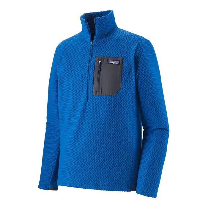 Patagonia Men's R1 Air Full-zip Neck pile tecnico uomo ragazzo blu